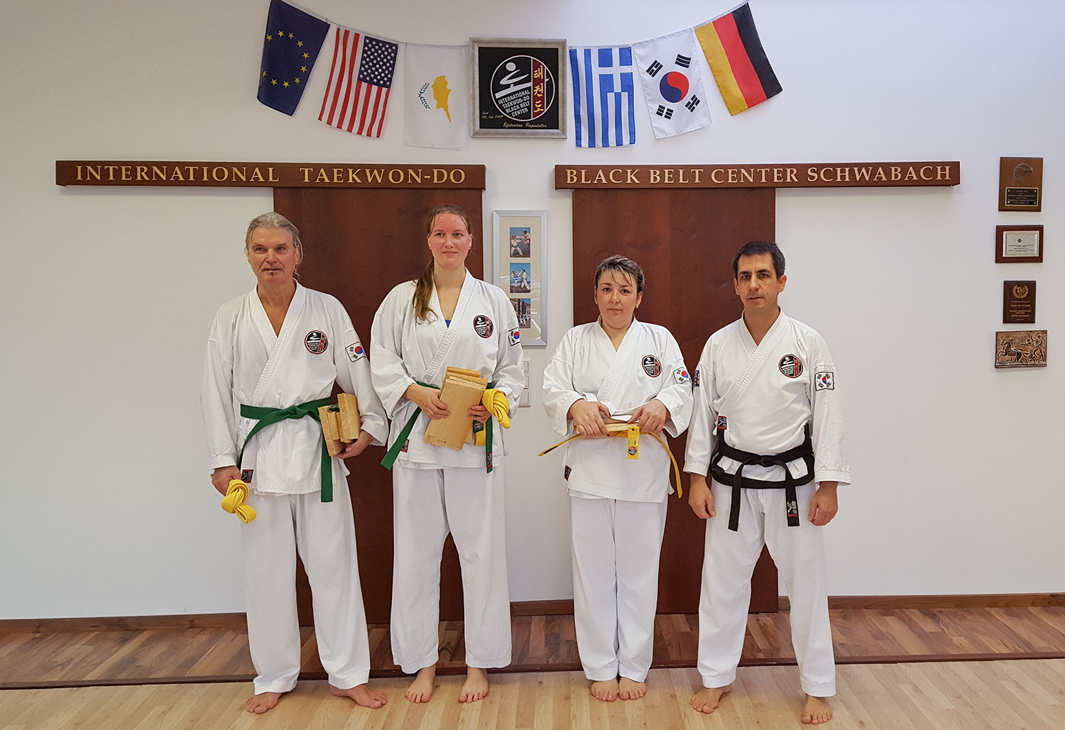 TaekwonDo-Prüfungen im International Taekwon-Do Black Belt Center Schwabach am 19.11.2016