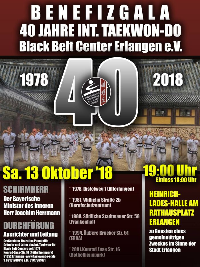 40 Jahre International Taekwon-Do Black Belt Center Erlangen