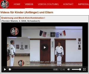 Neue Taekwon-Do Website mit Taekwondo-Videos für das Training zu Hause - Int. Taekwon-Do Black Belt Center Schwabach