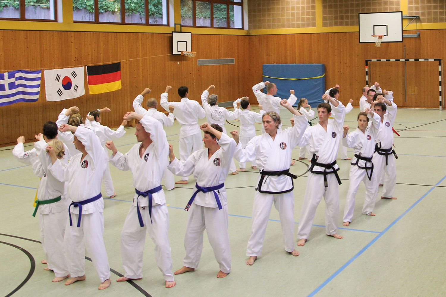 Taekwondo-Training im Sommertrainingscamp des International Taekwondo Black Belt Center e.V. - Erlangen, Nürnberg, Schwabach, Bamberg, Lichtenfels, Fürth/Vach